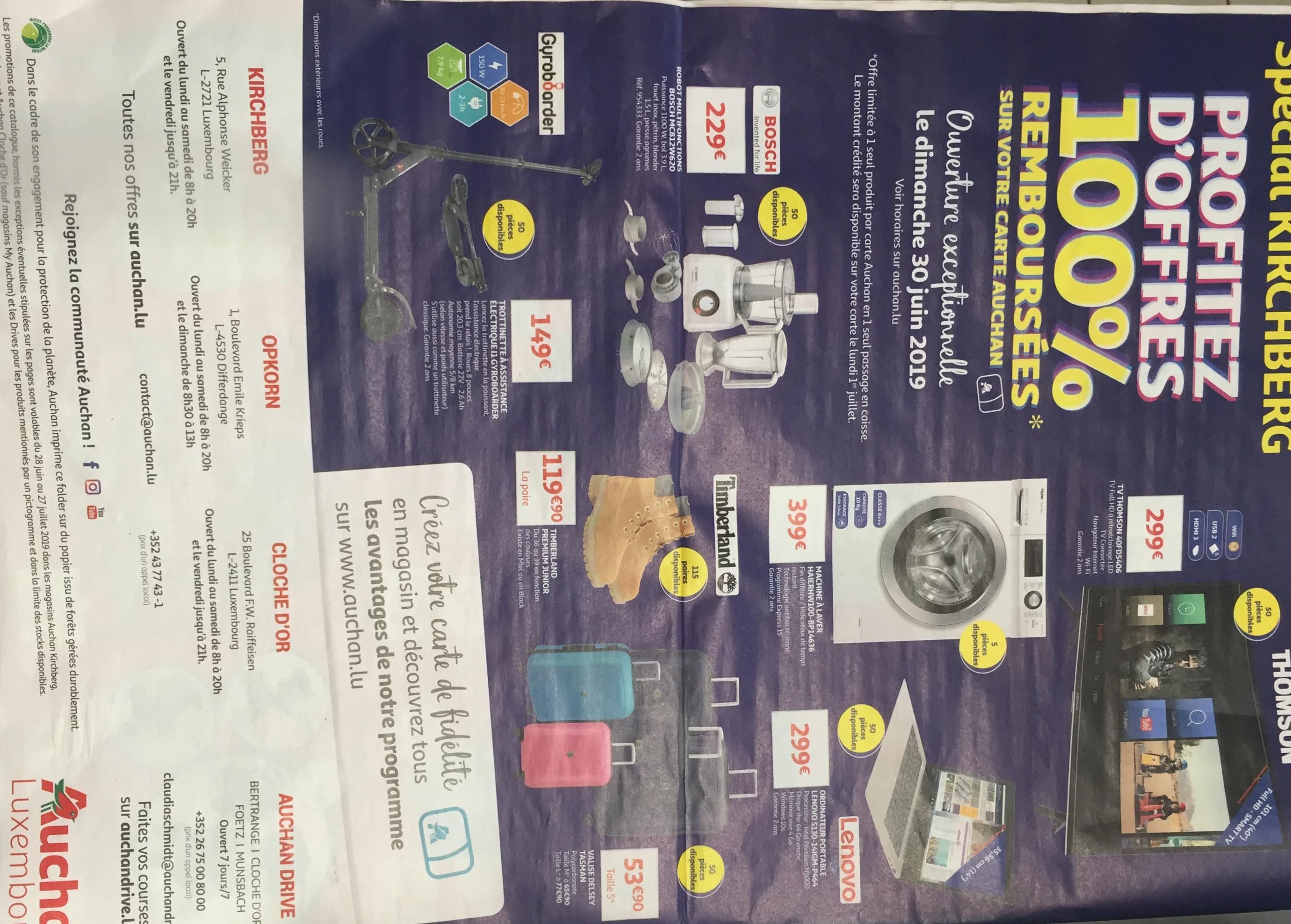 Carte Auchan Kirchberg.Selection De Produits 100 Rembourses Sur La Carte Fidelite