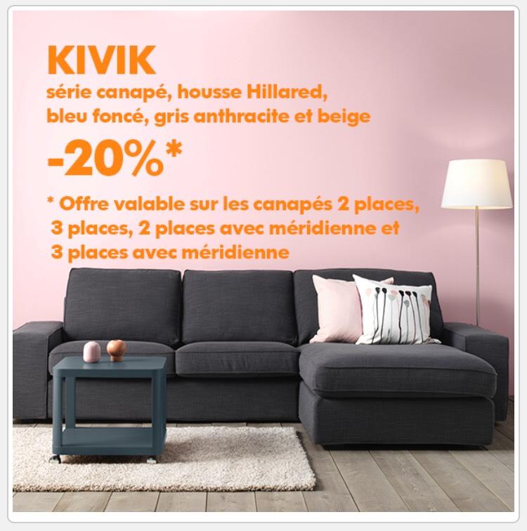 énorme réduction c6207 77f6e Ikea Family] 20% de réduction sur les canapés Kivik - Ex ...