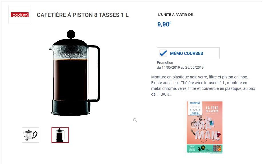 À Bodum8 Piston – Tasses1l Cafetiere lFK1c3uJT5