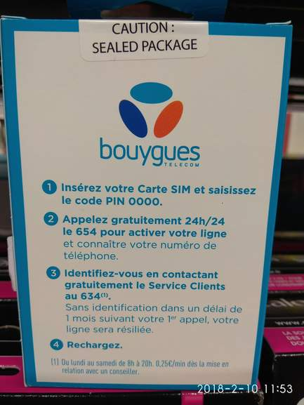 activer carte sim prepayee bouygues the best cart. Black Bedroom Furniture Sets. Home Design Ideas