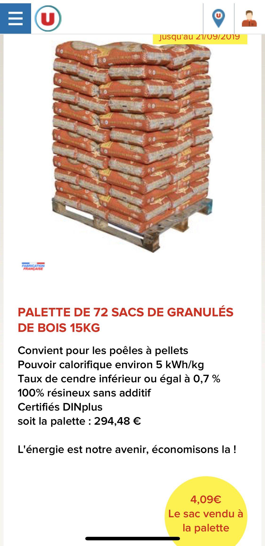Palette De 72 Sacs De Granules De Bois Flamino 72 X 15 Kg Saint Seurin Sur L Isle 33 Dealabs Com