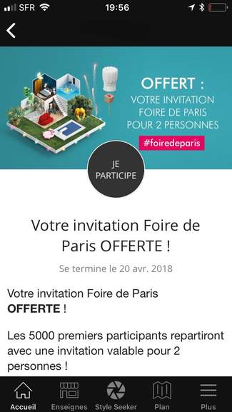 invitation gratuite pour 2 personnes 5000 offertes pour la foire de paris 2018. Black Bedroom Furniture Sets. Home Design Ideas