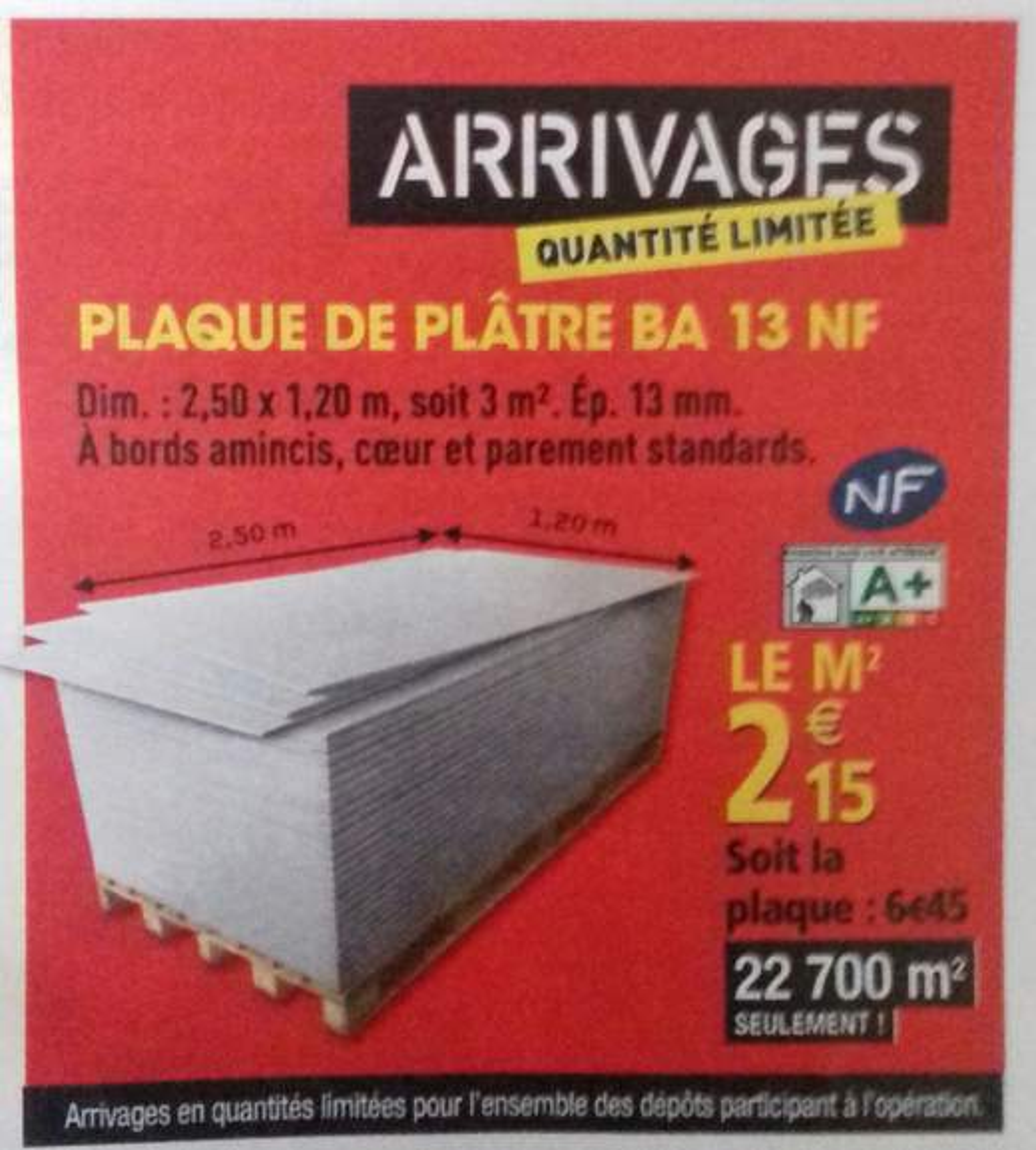 Plaque De Plâtre Ba13 Prix Au M² Dealabscom