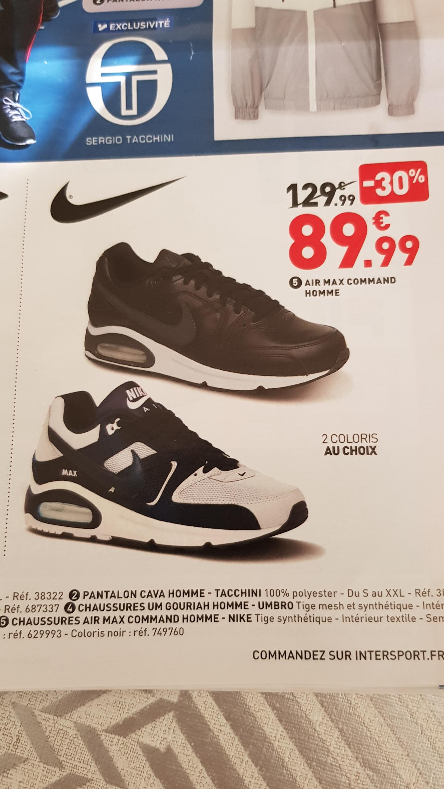 sélection premium 6453a 0ec08 Baskets Nike Air Max Command - Du 40 au 45 – Dealabs.com