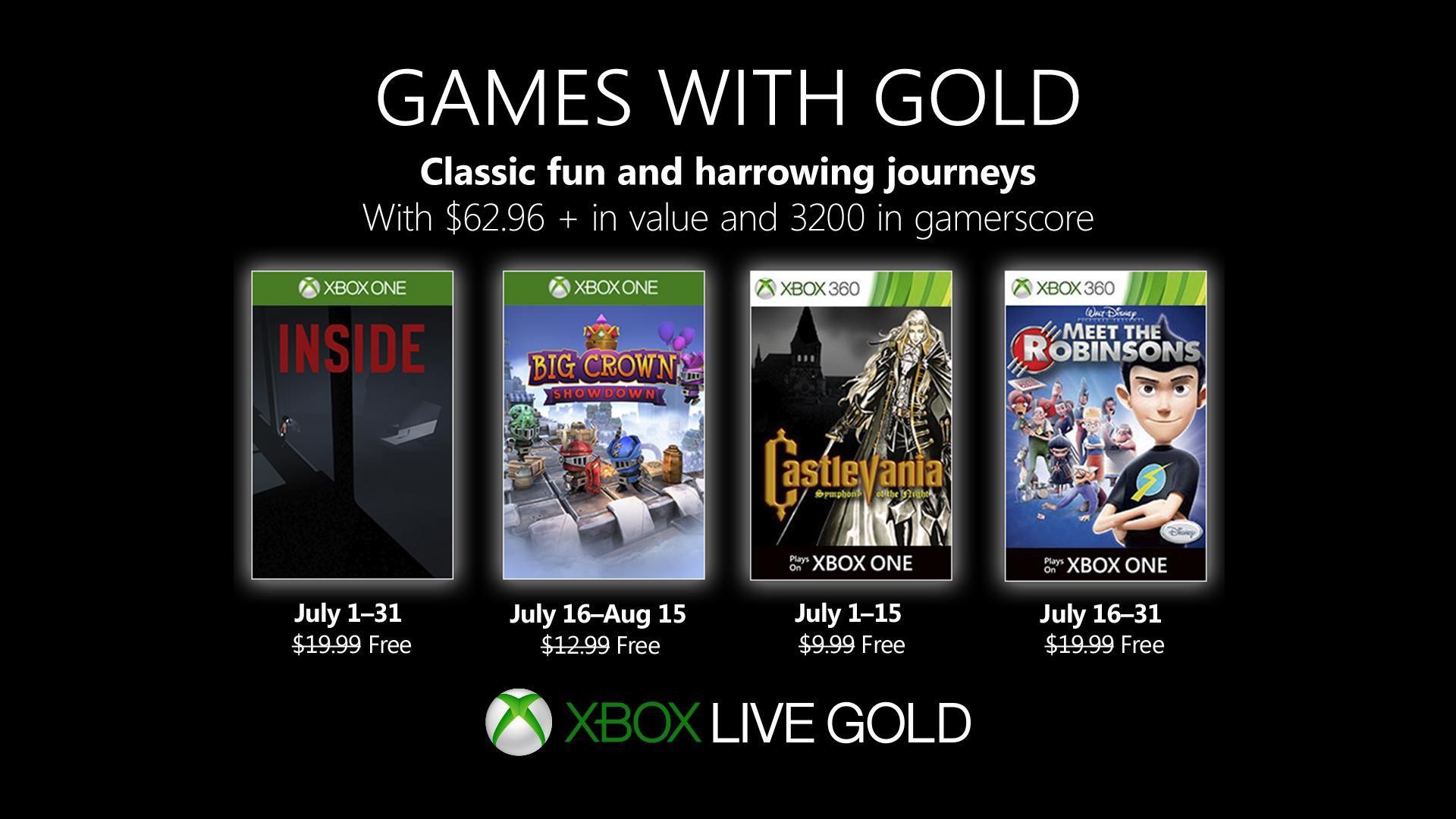 Abonnés Gold] Sélection de jeux offerts sur Xbox One / Xbox