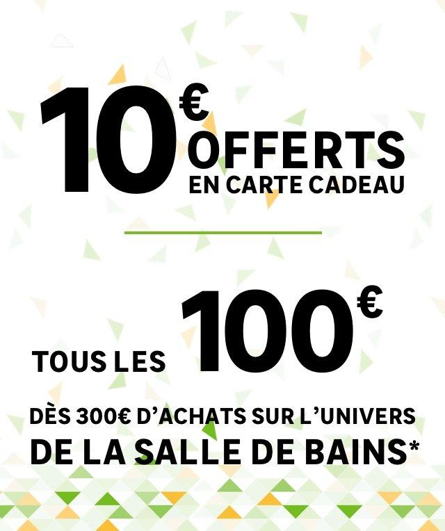 activation carte cadeau leroy merlin 10€ offerts en carte cadeau par tranche de 100€ d'achats dans l