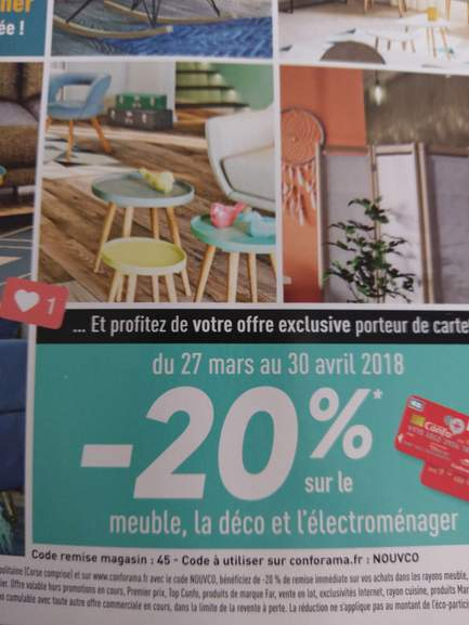carte confo 20 de r duction sur le meuble la d co et l. Black Bedroom Furniture Sets. Home Design Ideas
