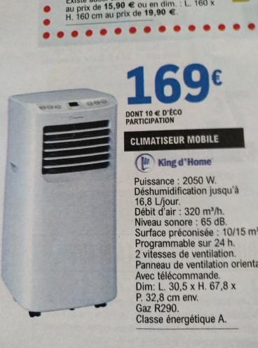 Climatiseur Mono Bloc King Dhome Kdcli078e Dealabscom