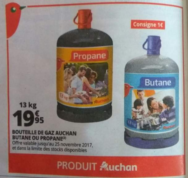prix bouteille gaz butane 13 kg auchan. Black Bedroom Furniture Sets. Home Design Ideas