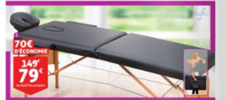 Table De Massage Pliante Yoghi Noir Ou Blanc Dealabs Com