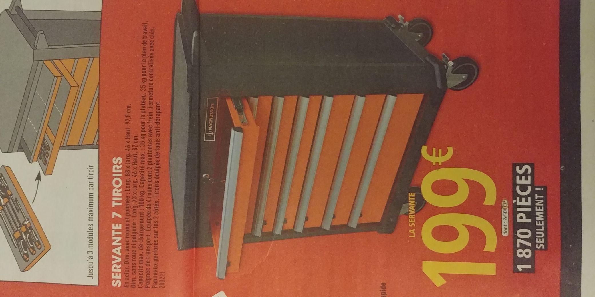servante 7 tiroirs magnusson 83 x 46 x. Black Bedroom Furniture Sets. Home Design Ideas
