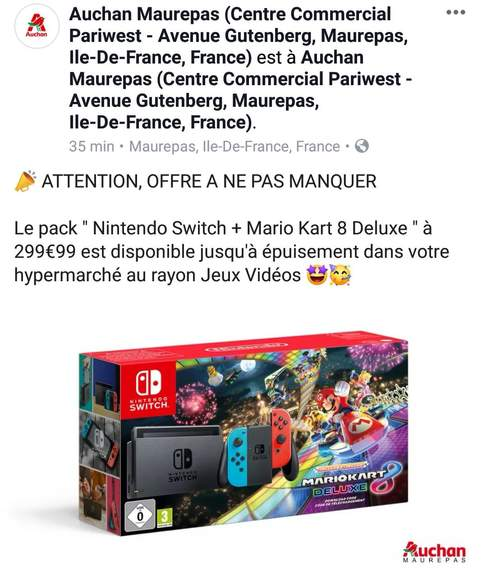 nintendo switch voiture