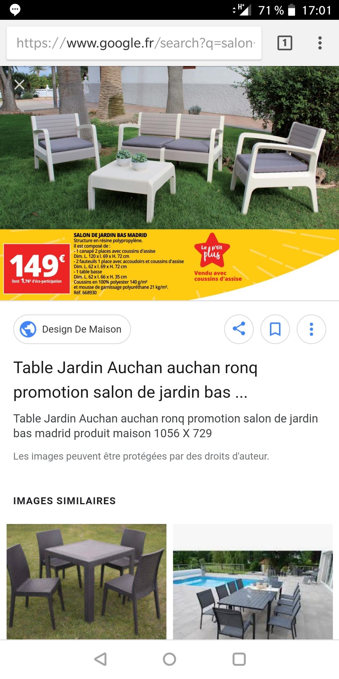 Salon de jardin Miami - 1 canapé + 2 fauteuils + 1 petite-table ...