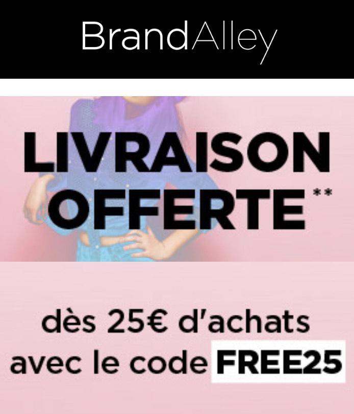 Frais de port offert d s 25 d achats - Frais de port offert brandalley ...