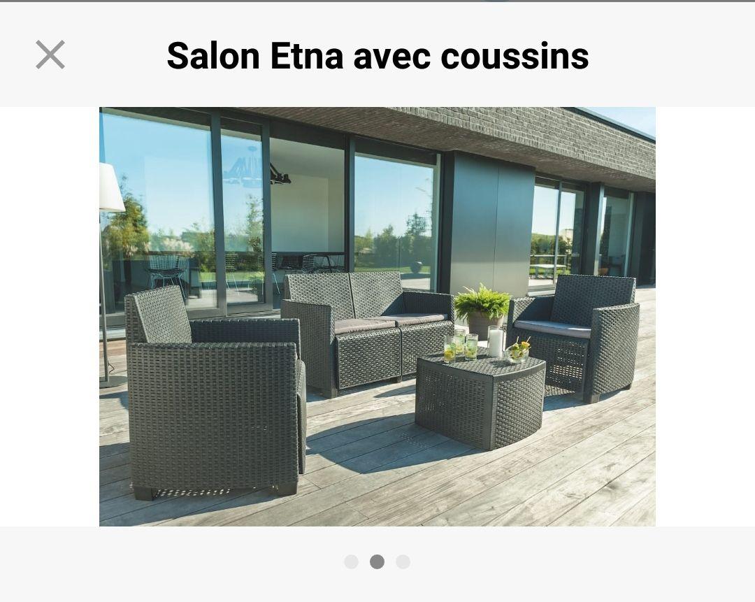 Salon de jardin IPAE ProGarden Etna - aspect résine tressée ...