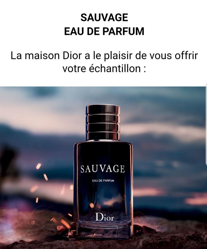échantillon Gratuit Eau De Parfum Dior Sauvage Dealabscom
