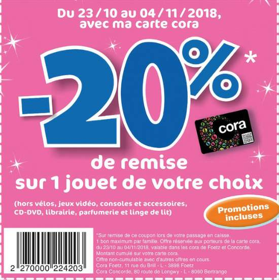 Carte Fidelite Cora Luxembourg.20 Credites Sur La Carte De Fidelite Pour L Achat D Un