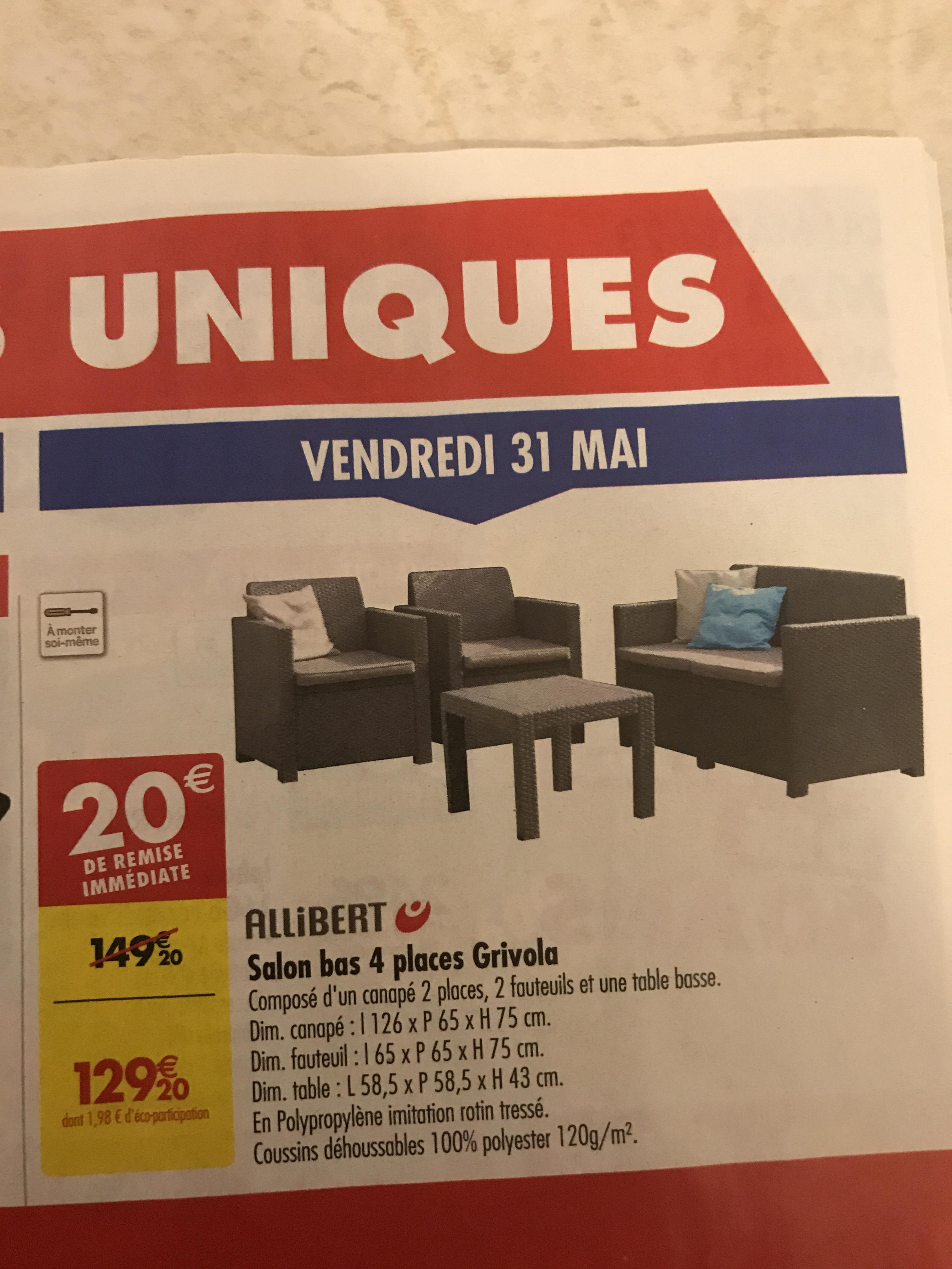 Salon de Allibert Grivola - 4 Places – Dealabs.com