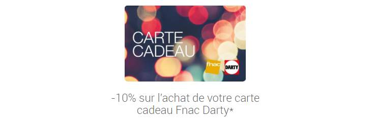 Carte Cadeau Fnac Darty Payer En Ligne.Adherents 10 De Reduction Immediate Sur L Ensemble Des E
