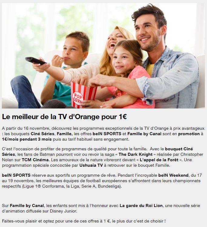 clients orange et sosh s lection de chaines tv en promotion pendant 3 mois sans engagement. Black Bedroom Furniture Sets. Home Design Ideas