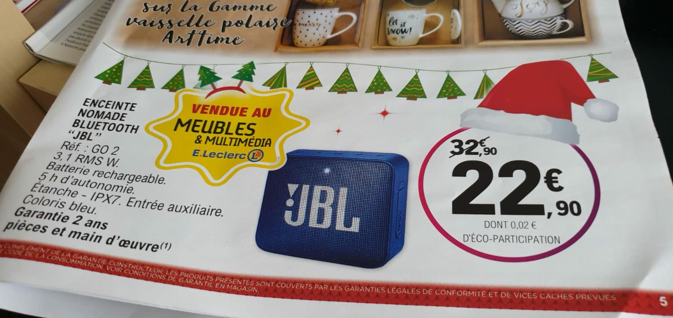 Enceinte Sans Fil Jbl Go 2 Bleu Bluetooth Basse