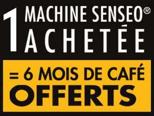 1 machine Senseo achétée = 6 mois de café offert