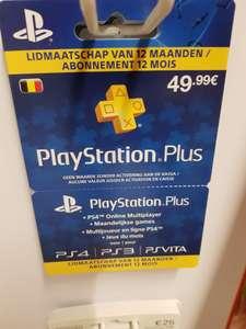 Carte d'abonnement d'un an au PlayStation Plus chez Spar Mouscron (frontaliers Belgique)