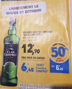 Bouteille de Whisky Clan Campbell - 70cl (via 6.45€ en ticket Leclerc)
