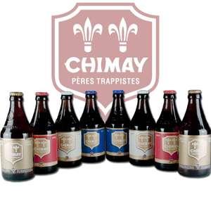 Lot de 8 bières Chimay - 33cl
