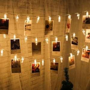Guirlande lumineuse avec clips pour photos (20 LEDs) - 220cm