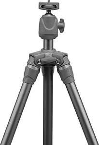 Trépied Photo Rollei Traveler Star S3 Plus avec rotule intégrée et poteau central réversible - Anthracite
