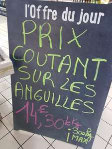 1 kg d'anguilles - Super U Magné (79)