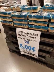 Caissette de 24 huîtres creuses Fine de Claire - n°3, élevées en France au Monoprix Le Perreux-sur-Marne (94)