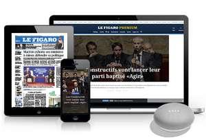 Abonnement Premium de 6 mois au journal numérique Le Figaro + assistant vocal Google Home Mini (sans engagement après les 6 mois)