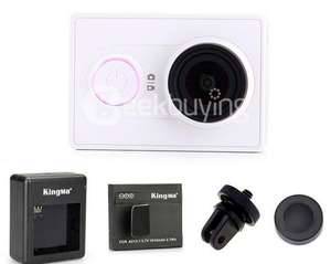 Caméra sportive Xiaomi Yi  avec double chargeur, une batterie de rechange, adaptateur tripod