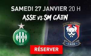Billet pour le Match ASSE - Caen en tribune Henri-Point