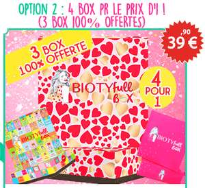 4 Biotyfull Box pour le prix d'une seule
