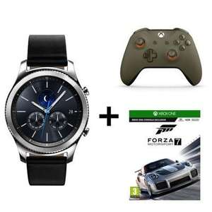 Montre connectée Samsung Gear S3 Classic Silver + Bracelet + Manette Xbox One - Verte et orange + Forza Motorsport 7sur Xbox One (via ODR 50€)