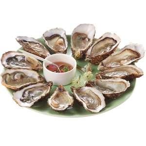Bourriche d'une douzaine d'huîtres creuses - calibre n°3, origine Normandie Ouest (via 5.22€ sur la carte de fidélité)
