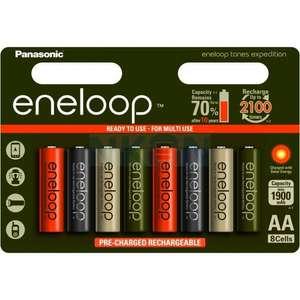 Lot de 8 piles rechargeables AA Panasonic Eneloop - 2000mAh (NKON, NL)
