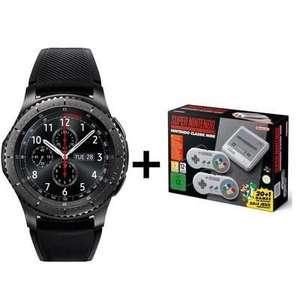 Montre connectée Samsung Gear S3 Frontier Dark Grey + Console Super Nintendo SNES Classic Mini ou 2DS (via ODR de 50€)
