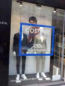 30% de réduction sur tous les costumes Homme