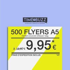 500 Flyers A5 papier opaque 100gr Recto / Verso