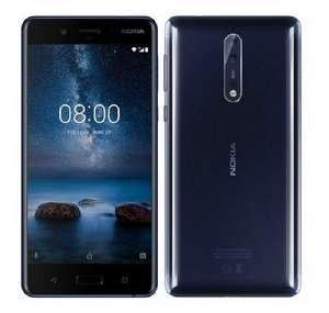 """Smartphone 5.3"""" Nokia 8 Bleu - QHD, Snapdragon 835, RAM 4Go, 64Go Dual Sim"""