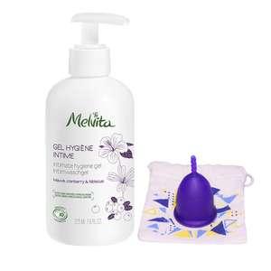 Lot gel hygiène intime et coupe menstruelle - 225ml