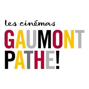 Place de cinéma e-billet Gaumont Pathé valables jusqu'au 30 Juin (Dématérialisé)