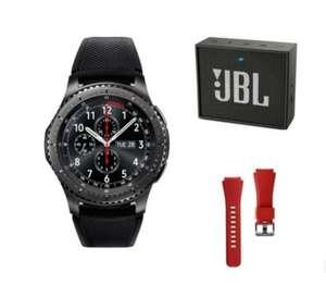 Montre connectée Samsung Gear S3 Frontier + Enceinte JBL GO + Bracelet rouge (via ODR de 50€)