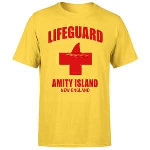 T-Shirt homme ou femme Les Dents de la mer Garde-Côte Amity Island - 100% Coton