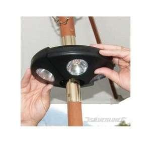 Éclairage LED Silverline 153662 pour Parasols - Noir