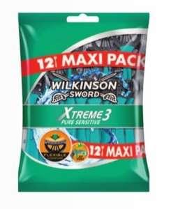 Lot de 12 rasoirs jetables Wilkinson Xtreme3 Sensitive (via 5€49 sur la carte fidélité)